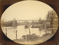 Sutrapur or hanging bridge, built c1834, since demolished, [Dhaka]